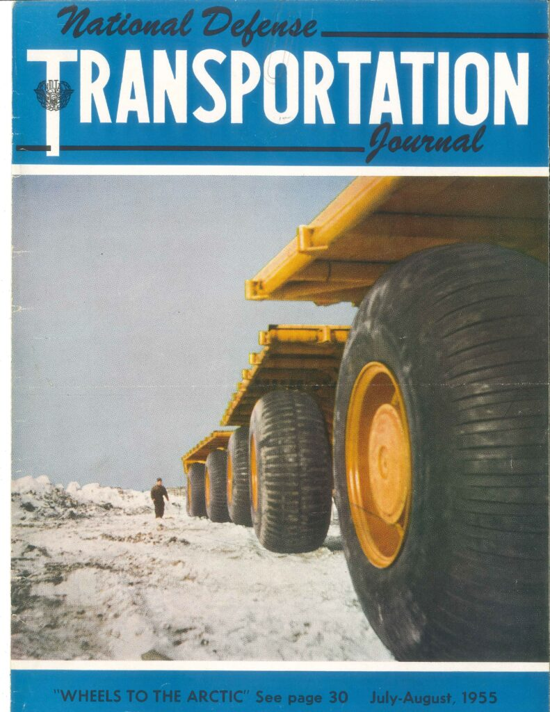 Sno-Freighter on the Cover of National Defense Transportation Journal